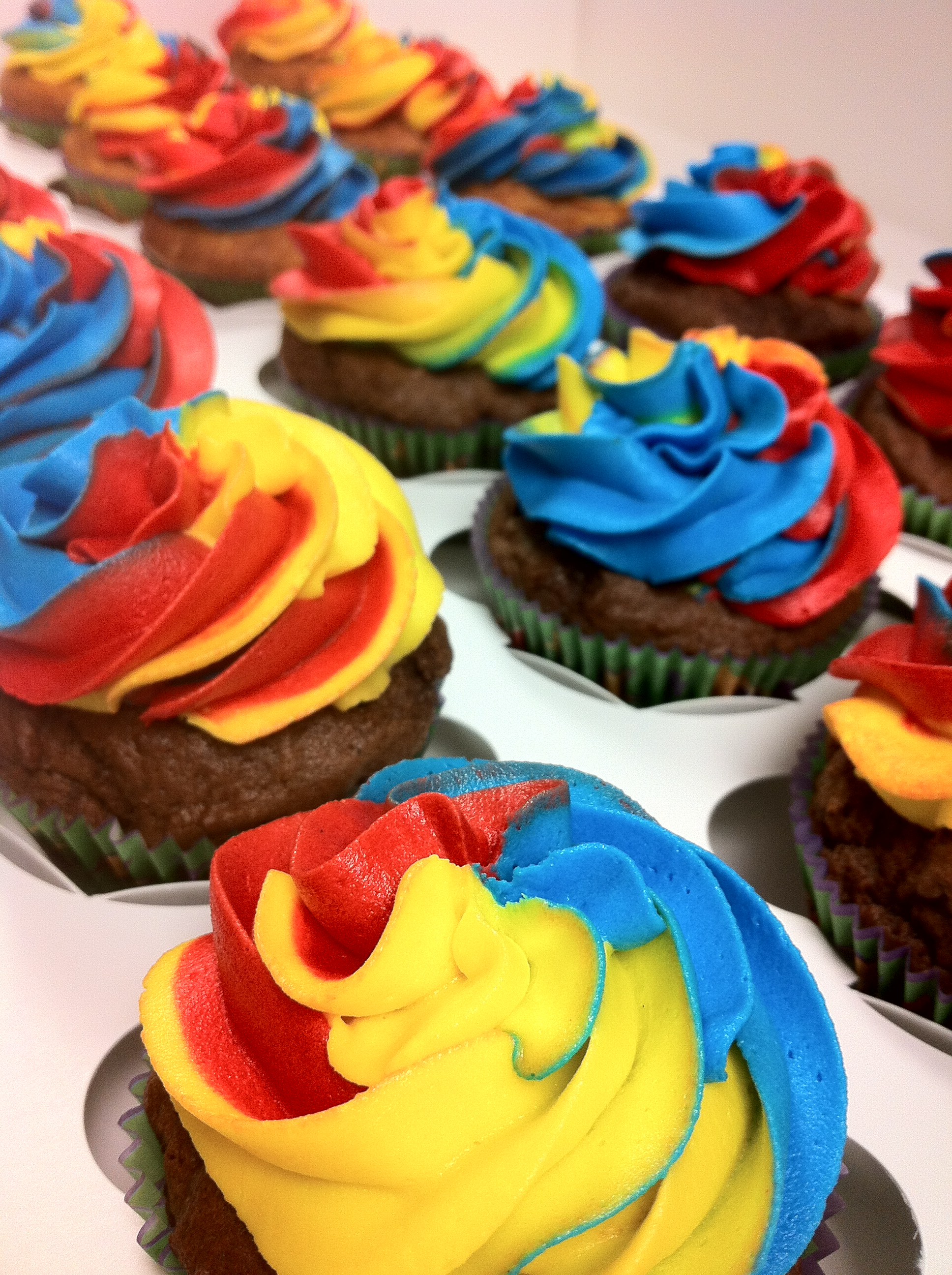 Red Velvet Rainbow Cake