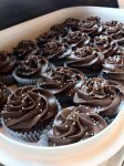 Triple chocolate cupcakes with chocolate buttercream frosting