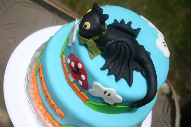 Aerial shot of Toothless Mario Land cake