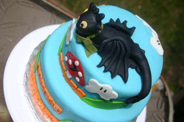 Aerial shot of Toothless Mario Land cake