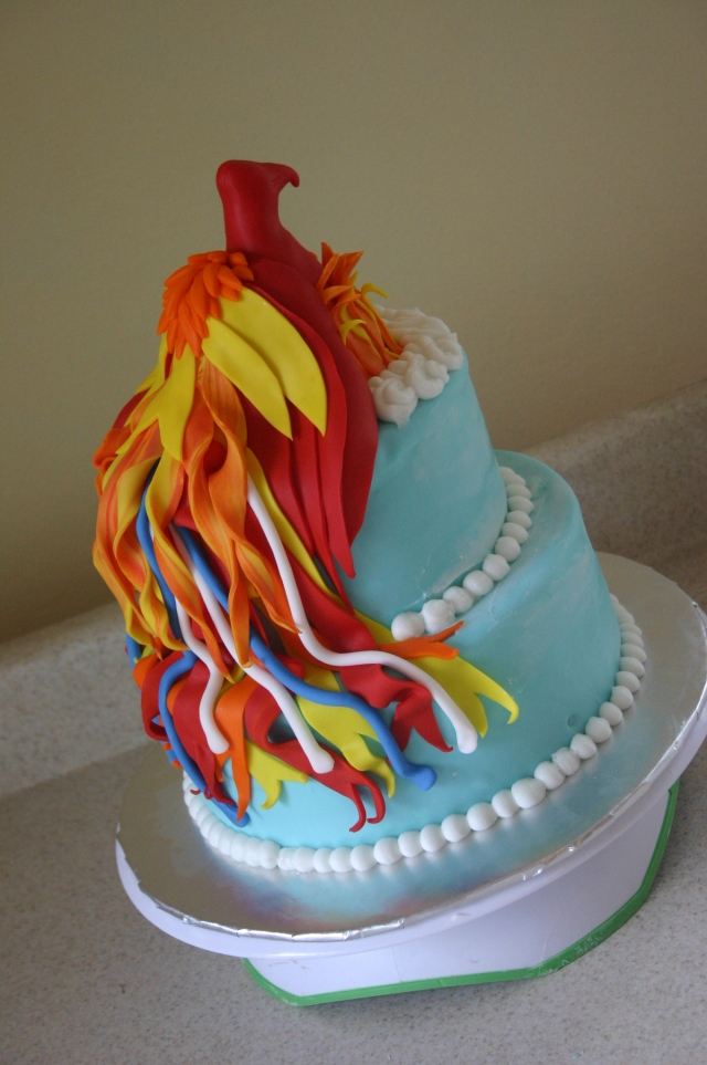 Phoenix firebird birthday cake