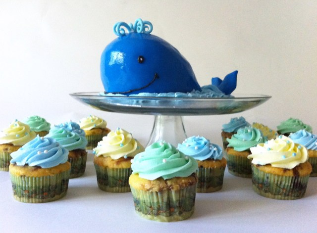 blue whale smash cake
