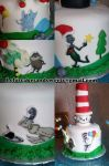 Dr. Seuss medley with Cat in the Hat cake topper. Feeds 15-20. MRSP $125