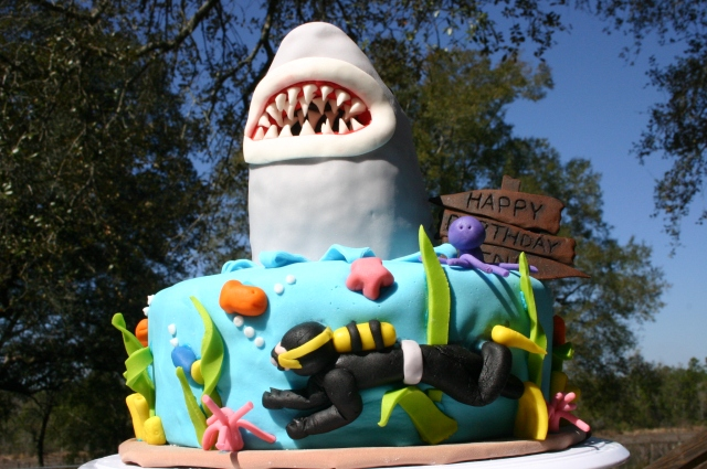 Jaws birthday Cake for shark week