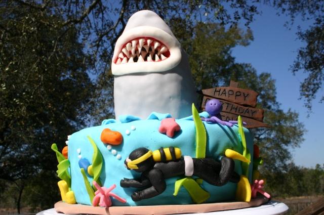 Jaws birthday Cake for shark week