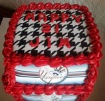 Multisport cake. Each side featured a different team logo. Feeds 10-15. MRSP $85