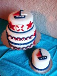 Nautical first birthday and smash cake. Feeds 25-30. MSRP $125