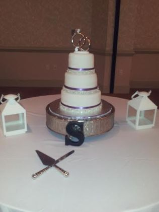 """""""Cassie"""" A classic beauty! Satin ribbon with a fondant ribbon overlay covered in sparkly jewels."""