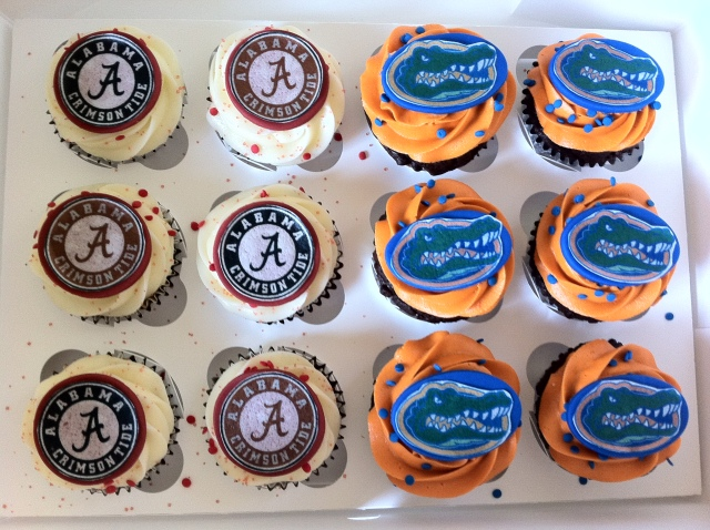 Alabama vs Florida cupcakes