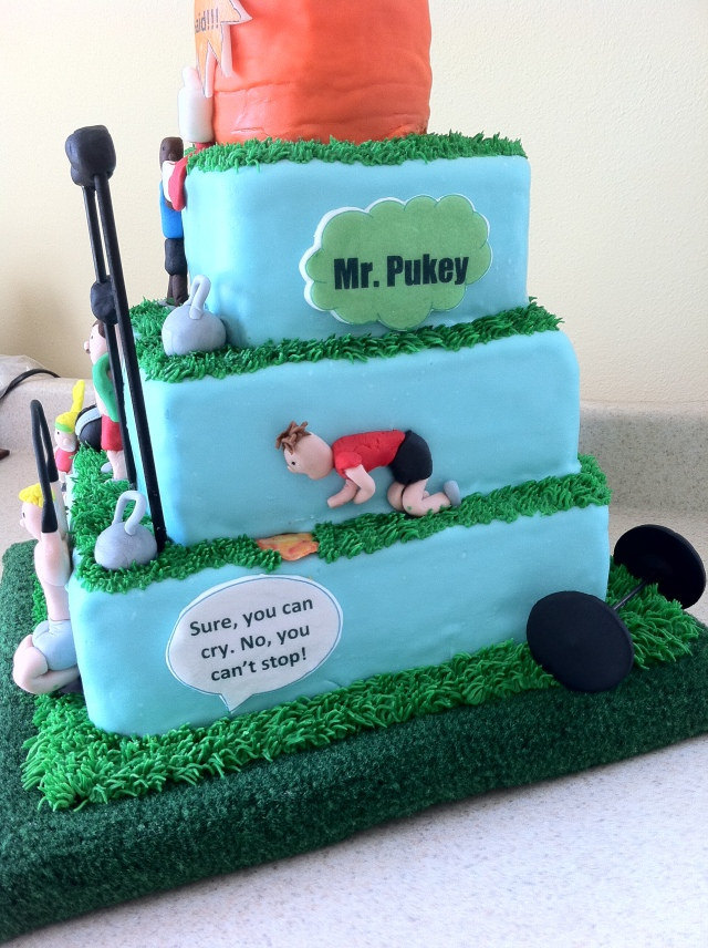 CrossFit cake Mr. Pukey