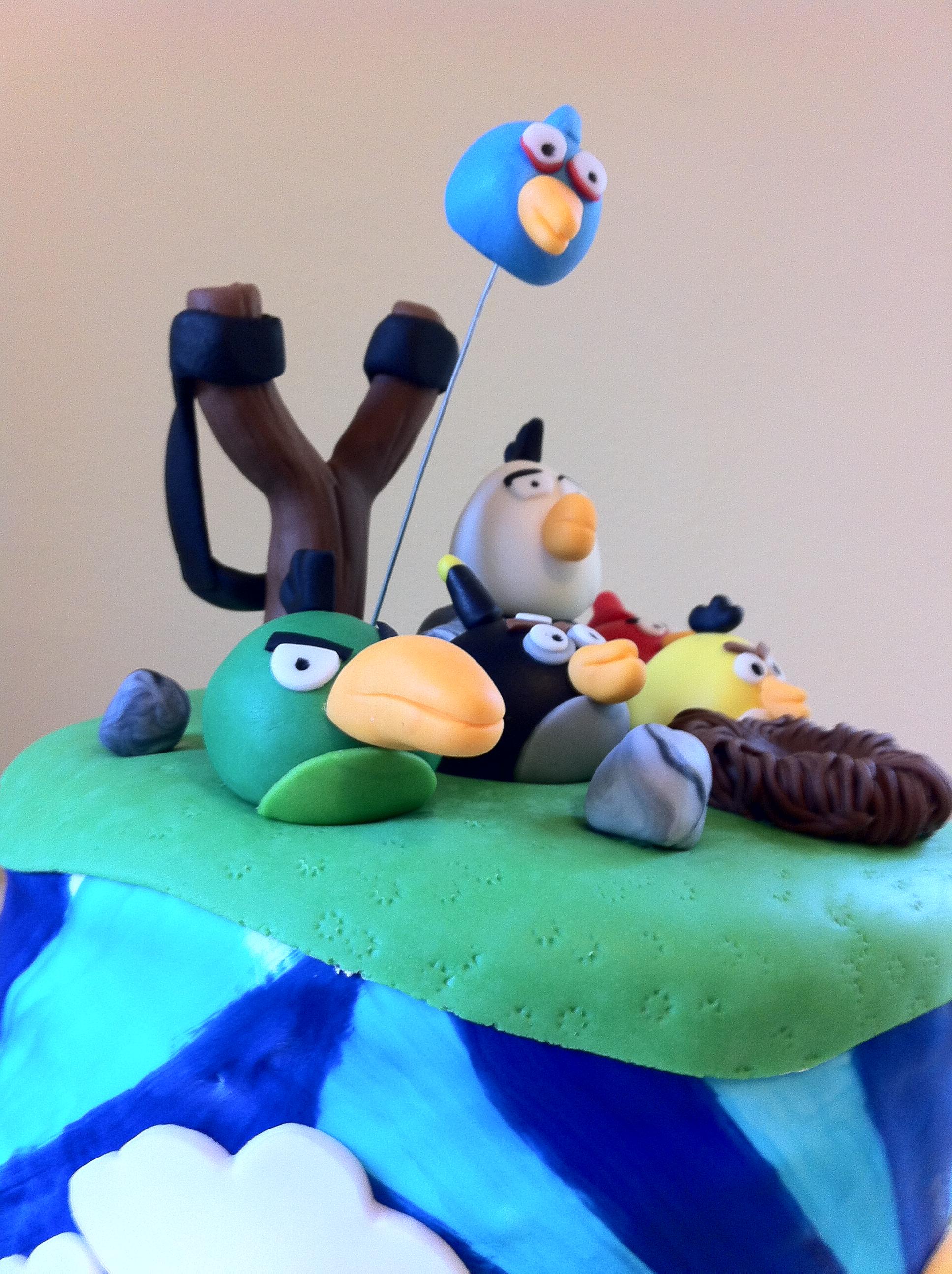 Angry Birds Pig Birthday Cake