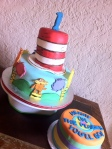 Dr. Seuss birthday cake and smash cake