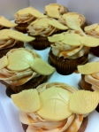 Harry Potter Golden Snitch Cupcakes