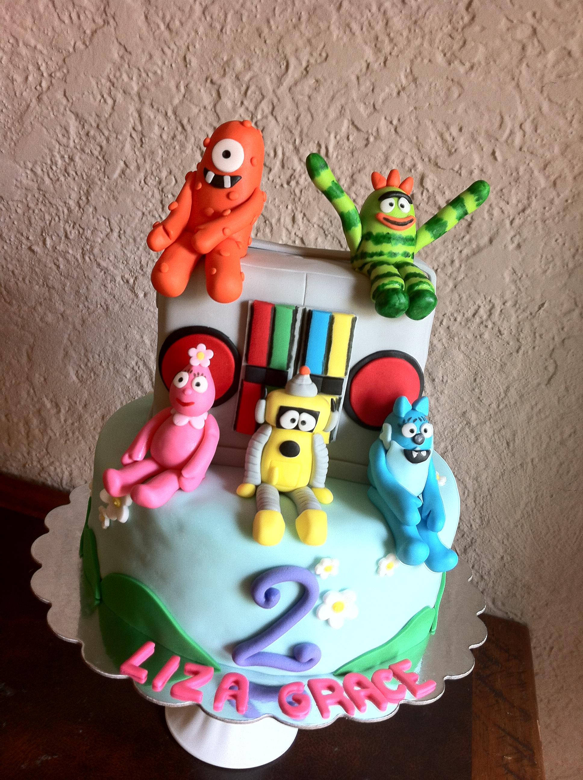 Yo Gaba Gaba birthday cake