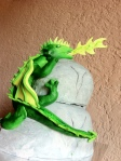 Green Fire Breathing Dragon Cake
