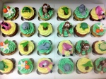 Florida wildlife baby shower cupcakes