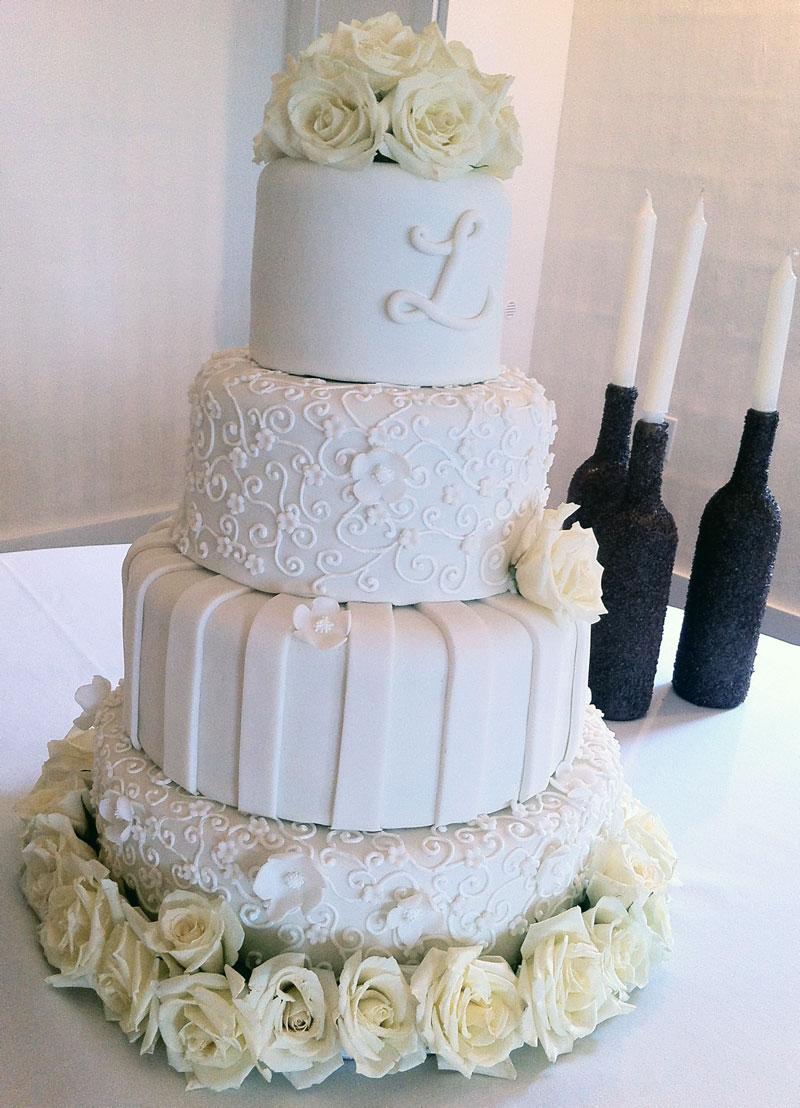 Lexi White On Rose Wedding Cake Destin Fl