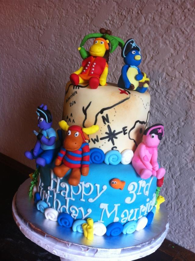 Backyardigans cake Pablo Tyrone Tasha Austin Uniqua